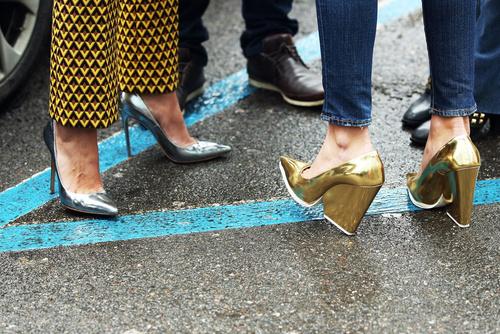 Metallic Shoes in Milan