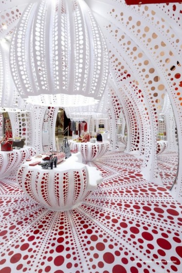 Japanese artist Yayoi Kusama concept store for Louis Vuitton at Selfridges