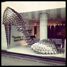 Art shoe installation at Selfridges