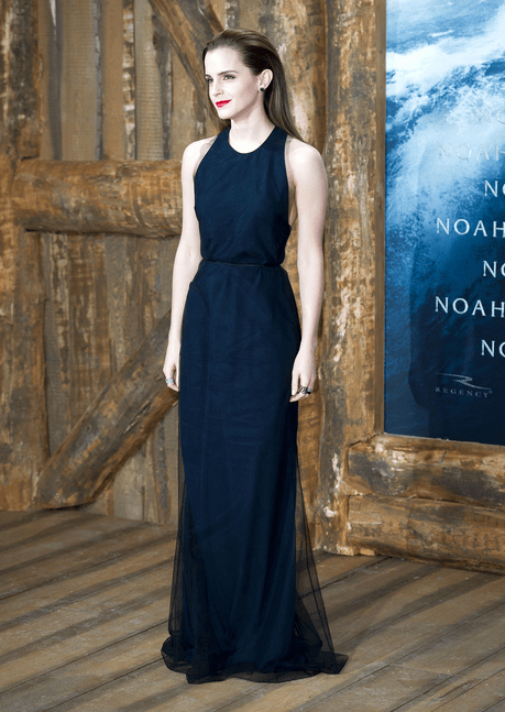Emma Watson in Wes Gordon at Noah Premiere in Berlin