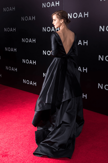 Emma Watson in Oscar De La Renta at the New York Premiere of 'Noah'