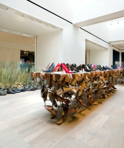 Shoe display at Selfridges