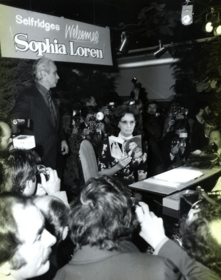 Sophia Loren at Selfridges