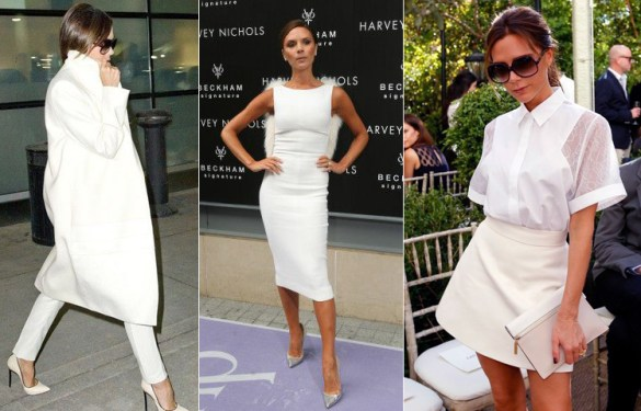 Victoria Beckham All White Look