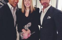 Jesse Garza and Joe Lupo with Sarah Burton