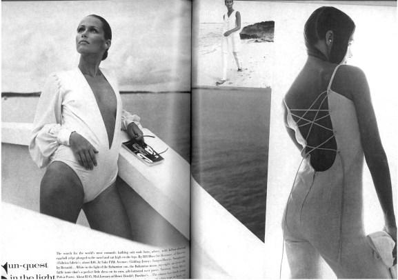 Lauren Hutton by Richard Avedon | Swimsuit