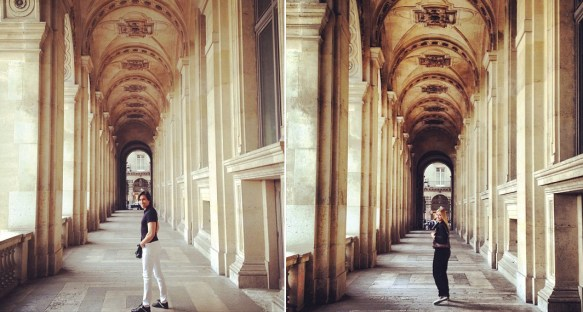 Strolling at Louvre