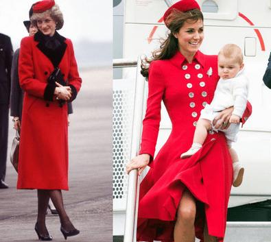 3. Kate Middleton's stylish tribute to Princess Diana