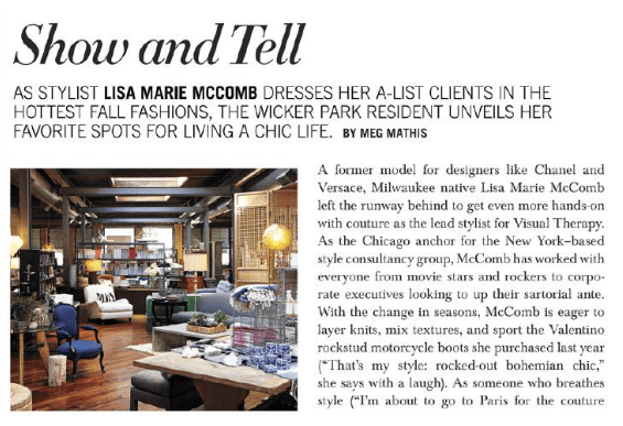 Michigan Avenue Magazine Style Network - Stylist Lisa Marie McComb