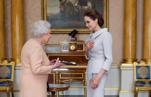 Angelina-Jolie-is-made-an-Honorary-Dame-by-the-Queen