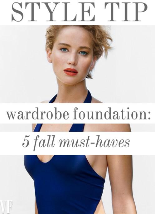 Style Tip Wardrobe Foundation Jennifer Lawrence