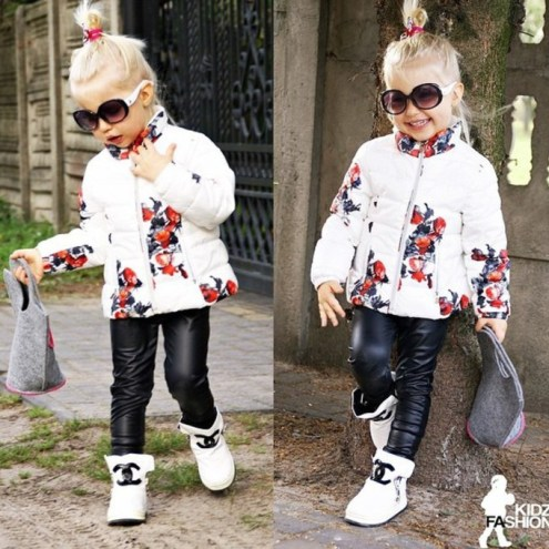 Kids leather pants