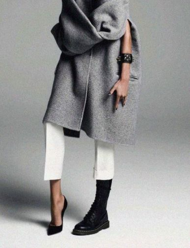 Grey coat: ladylike or edgy?