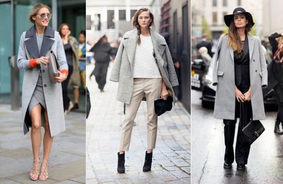 Grey Coat Street Style Olivia Palermo