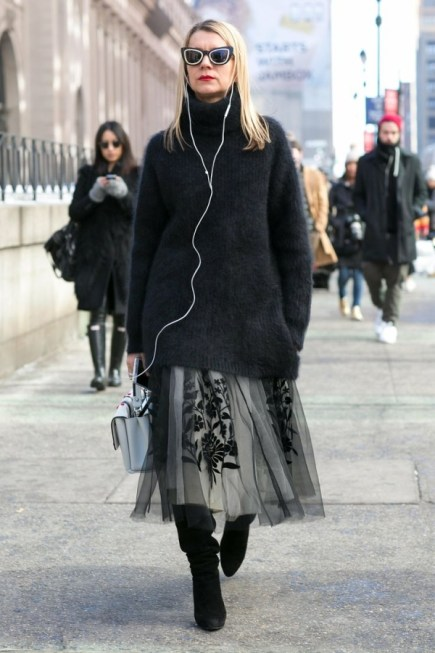 Style Tip: How To Wear a Skirt During Winter