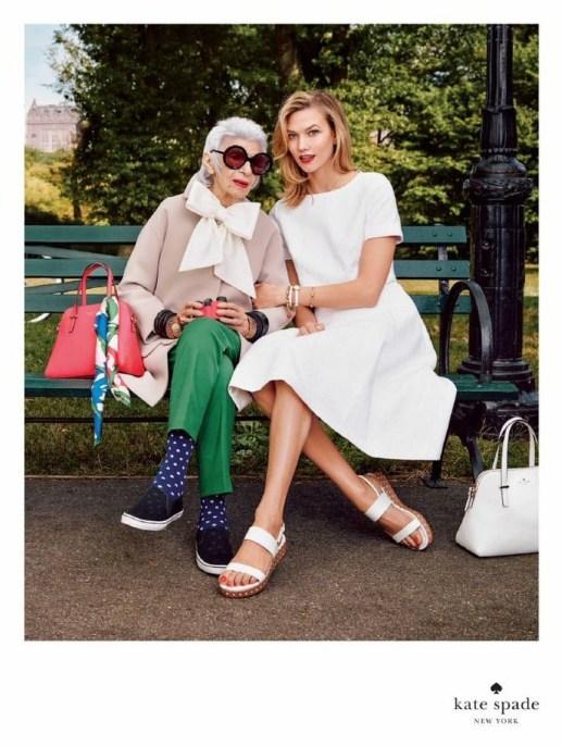 Iris Apfel and Karlie Kloss Kate Spade