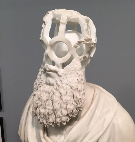 19th Century Marble Bust reinterpreted by artist Jonathan Owen
