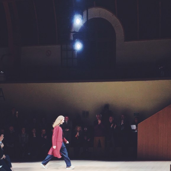 Nadège received a well deserved standing ovation for this show...her first collection at Hèrmes!