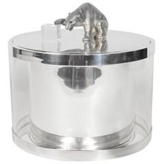 Love this figurative polar bear modernist ice/wine cooler