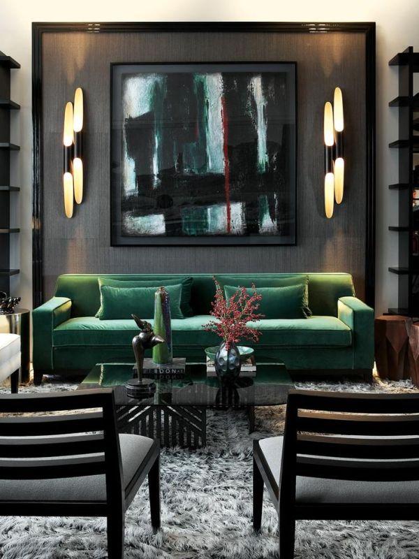 Green Interior Chic Home | VT Home