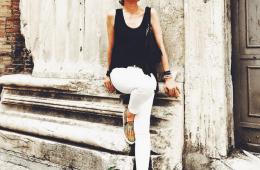 Lisa Marie McComb stylist black white street style