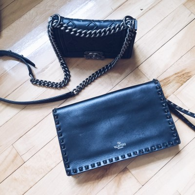 Chanel Chain bag and Valentino Clutch