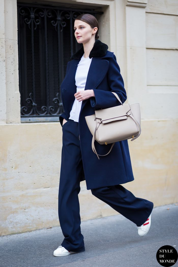 Black and navy street style trend