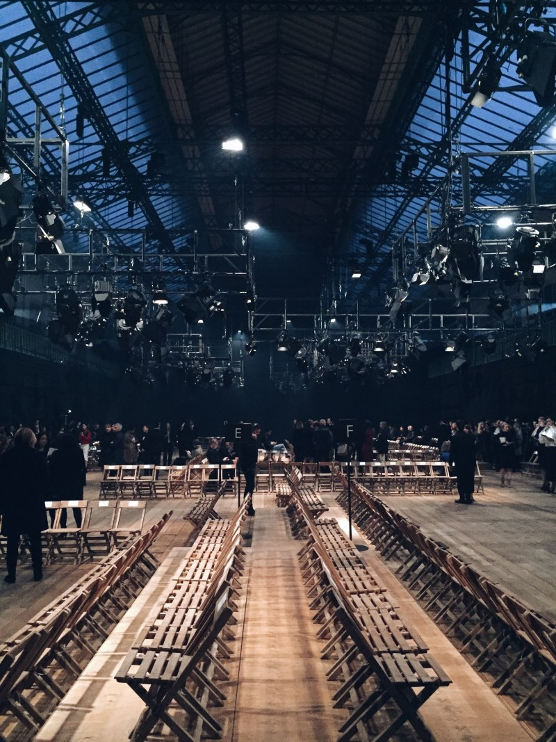 The venue... a school gymnasium | Alexander McQueen Spring 2016