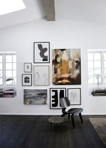 If you are obsessed with and love collecting art, consider creating a gallery wall to enjoy it more fully. The trick is keeping it clean and in theme!!