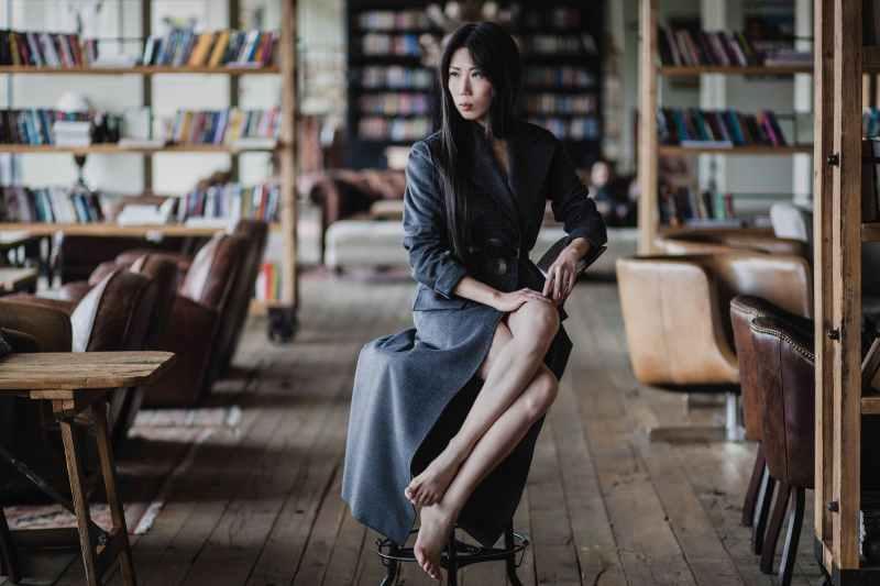 Oksana On Style Grey coat