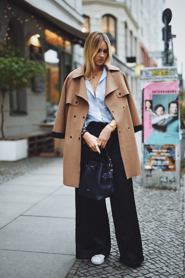 Interview with Nina Suess | Wide leg pants and coat