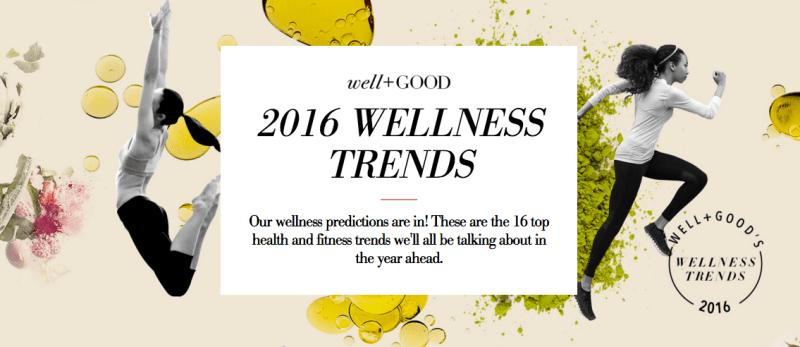 2016 Wellness Trends