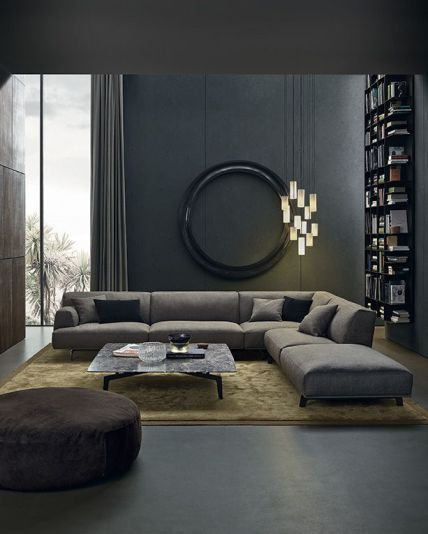 A low sofa in a comfortable room is quite inviting , not to mention that it creates a sexy, cozy vibe