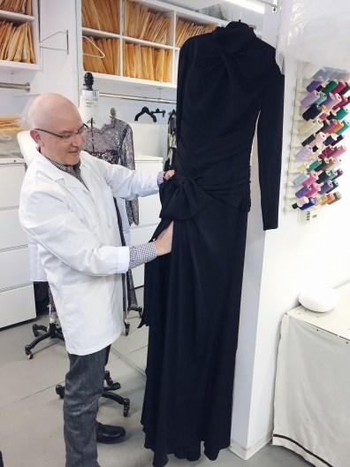 Carolina Herrera Black Dress Campaign Mario Testino