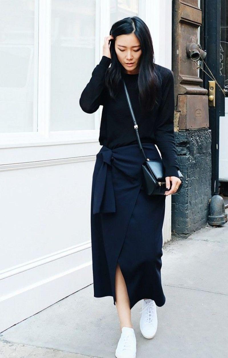 street style wrap skirt