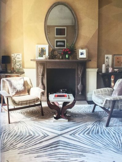 This rug from Allegra Hicks (legendary interior designer, David Hicks former daughter-in-law) called Reflections from The Rug Company is a very sophisticated take on an animal print. The symmetry is what most attracts us to this piece.