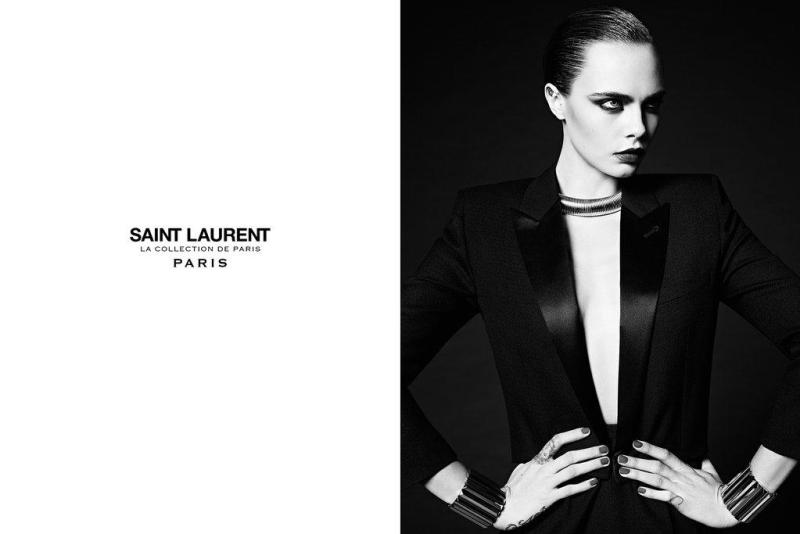 Saint Laurent fall 2016 campaign Cara Delevigne
