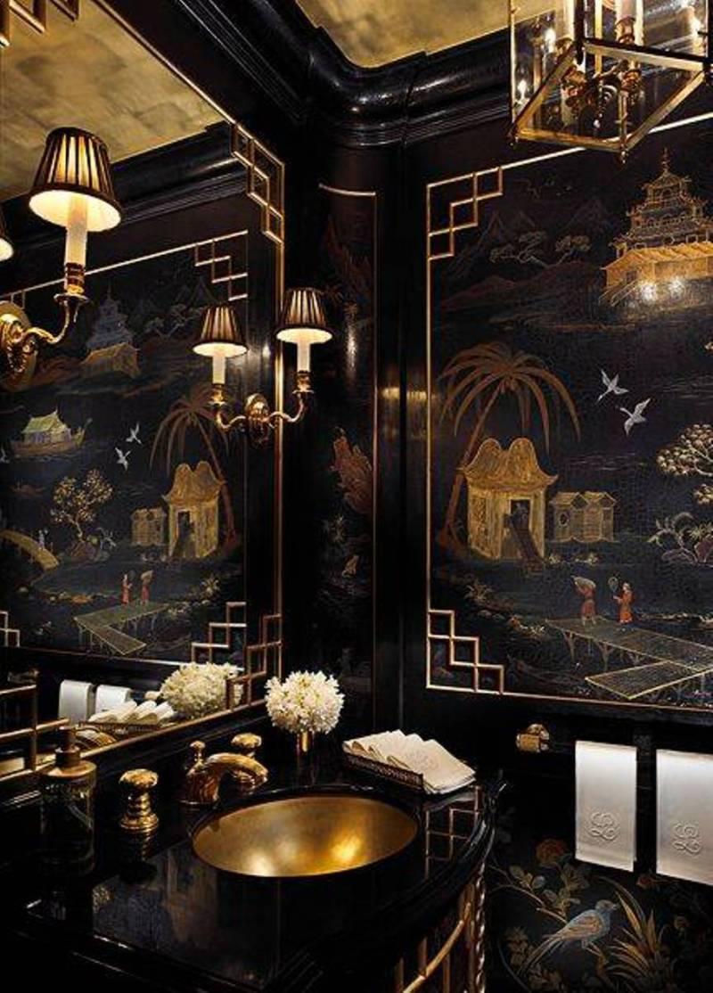 Asian Kitchen Designs With Copper Backsplash