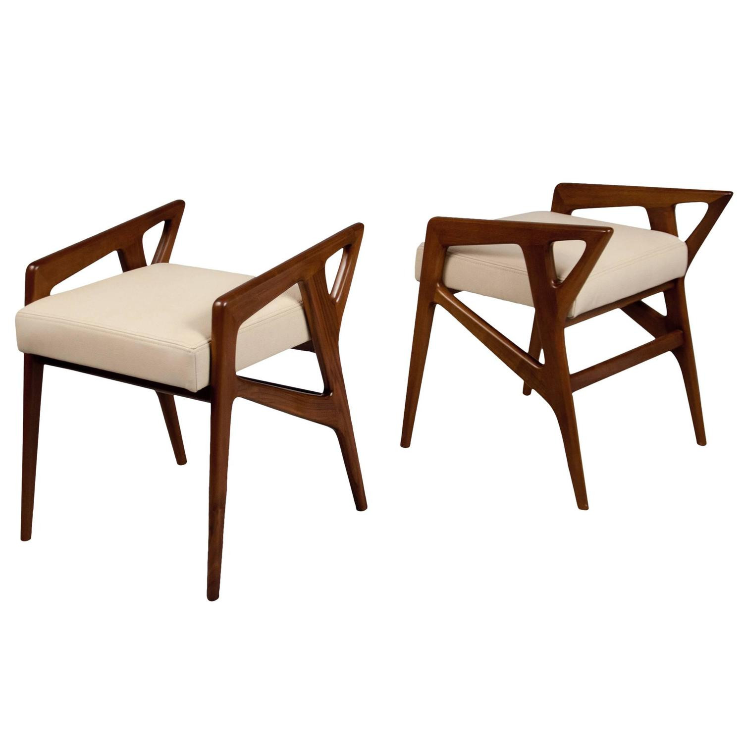 Gio Ponti Chairs On Either Side Of The Cabinet