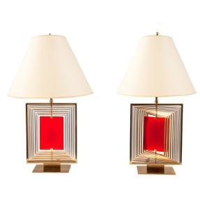 Roberto RIda - Giroscopio lamps in bronze
