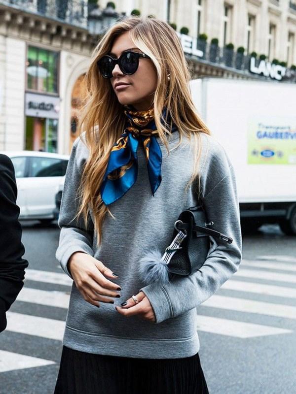 neck scarf street style