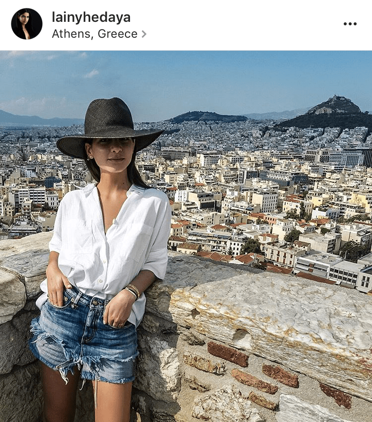 Lainy Hedaya vacation instagram