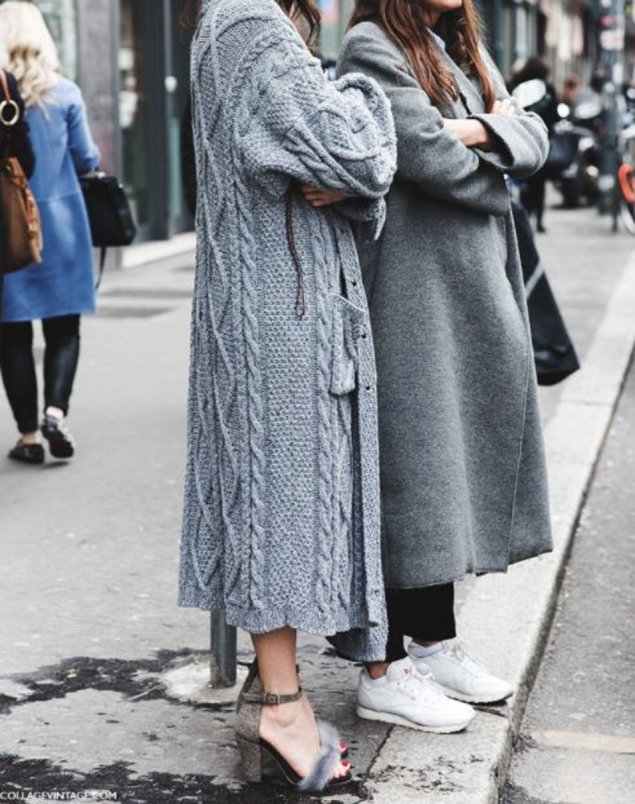 Duster cardigan street style