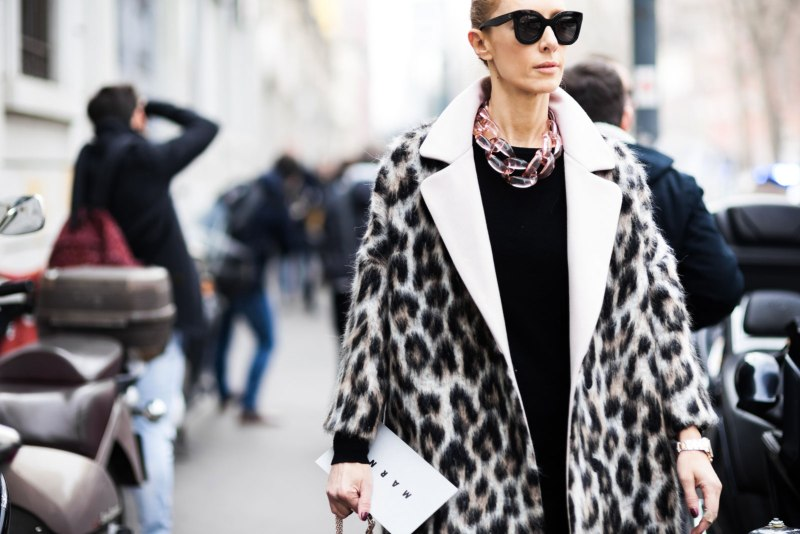 Leopard Print Coat Street Style