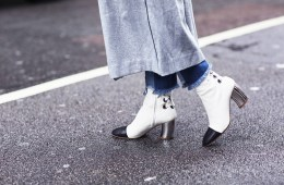 White Booties Street Style