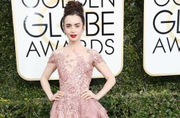 Lily Collins Golden Globes 2017