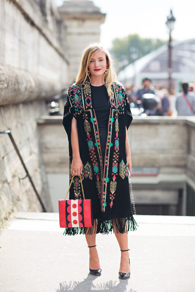 Embroidered vest street style