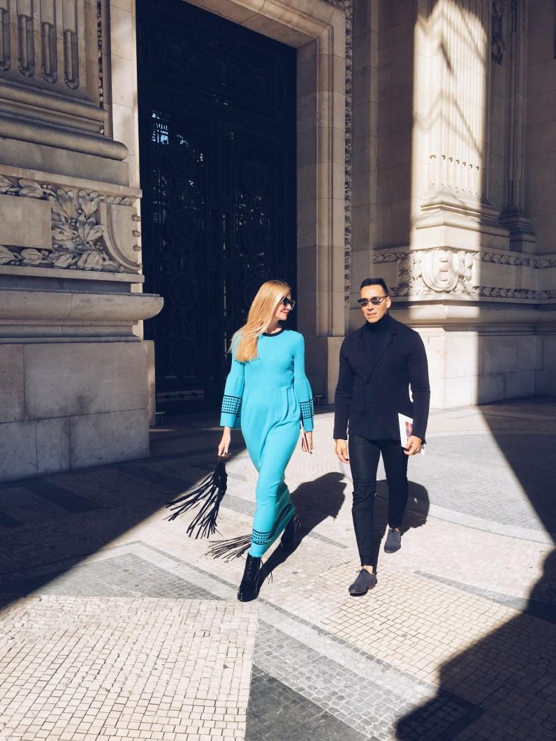 Jesse garza and lisa marie walking in paris