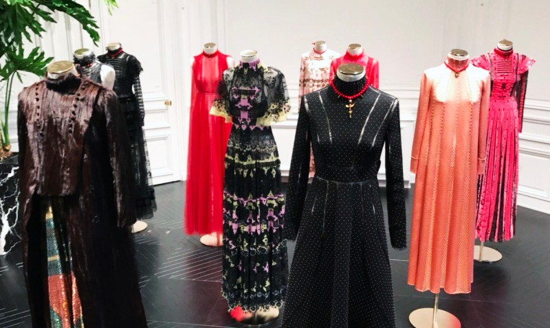 Valentino showroom fall winter 2017 collection in paris