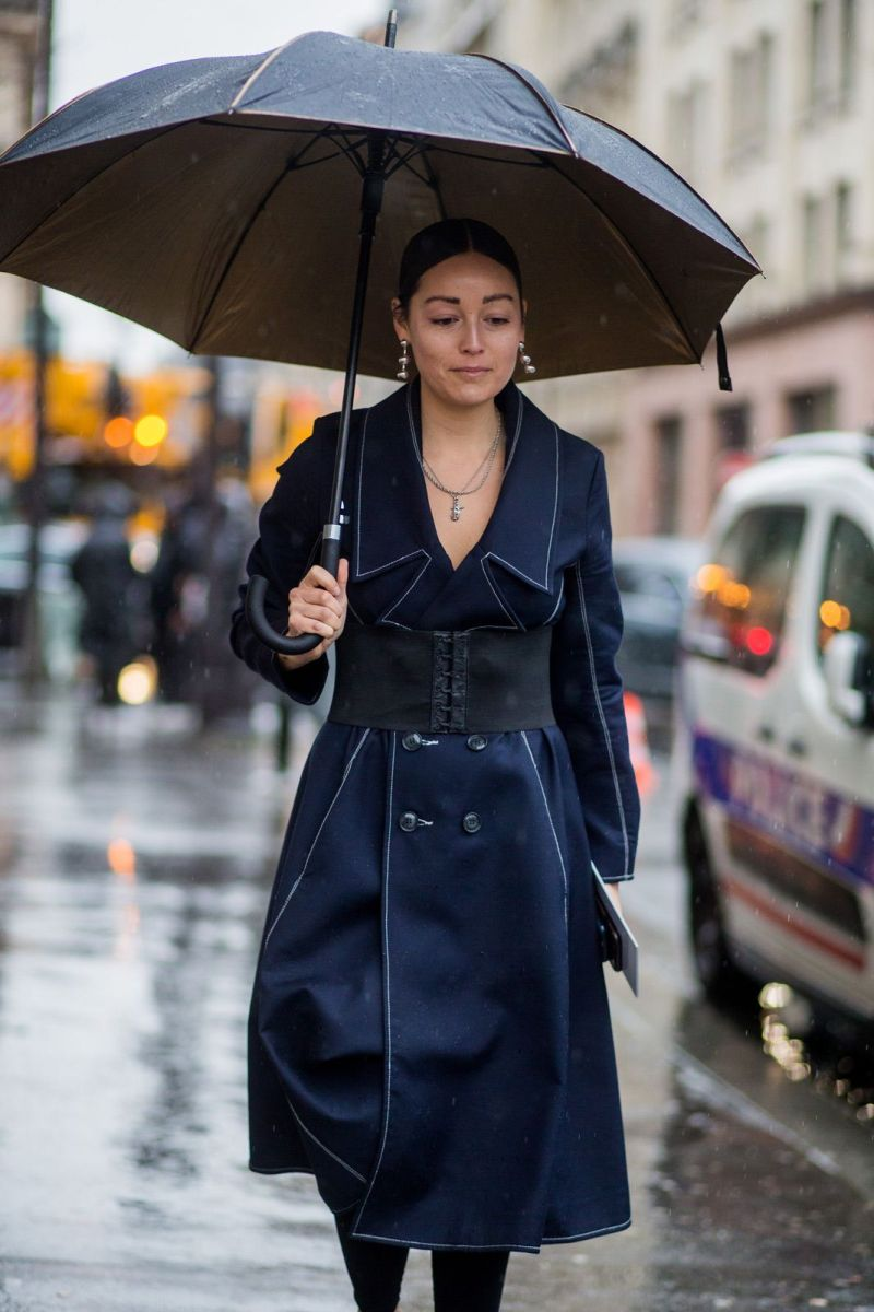 rainy day fashion